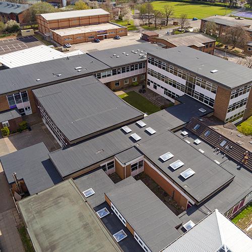 Alderbrook School roof waterproofing