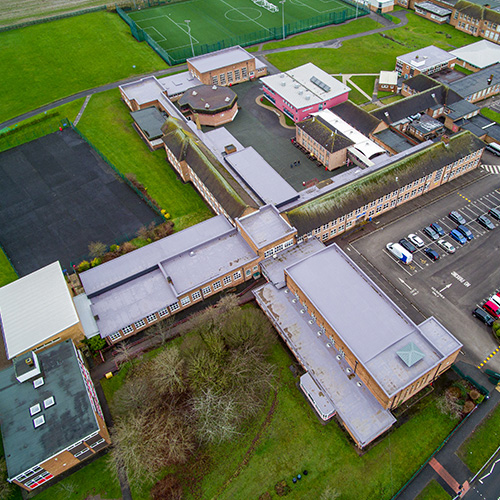 Pensby High School roofing project
